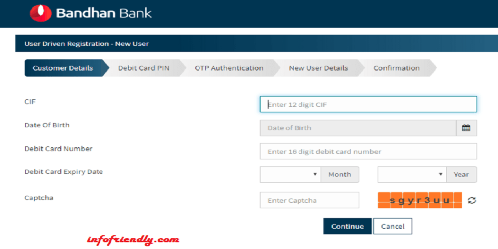 How to activate online net banking in Bandhan bank?
