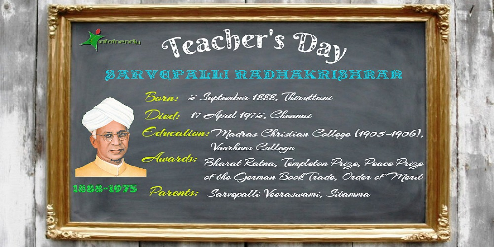Why celebrate teachers day? Biography of Sarvepalli Radhakrishnan.
