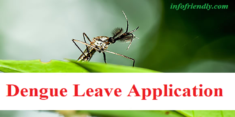 Write an application to your principal for dengue fever leaves