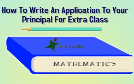 How To Write An Application To Your Principal For Extra Class