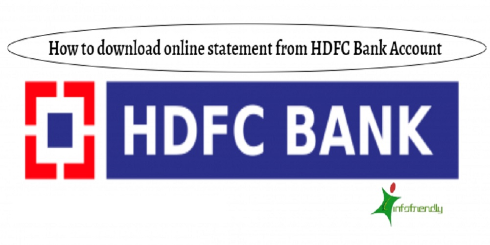How to download online statement from HDFC Bank Account