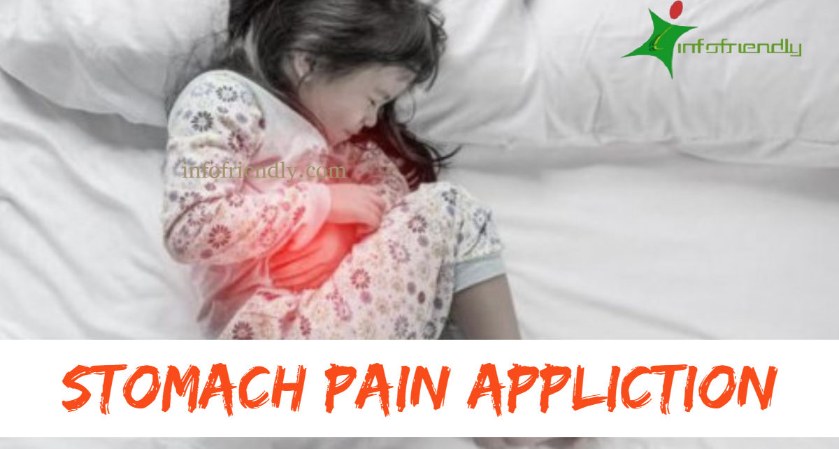 Write an application to your principal for stomach pain leave.