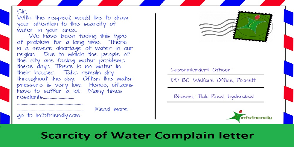 Scarcity of water letter poster
