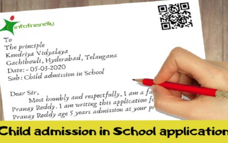 Application for Child's Admission in School