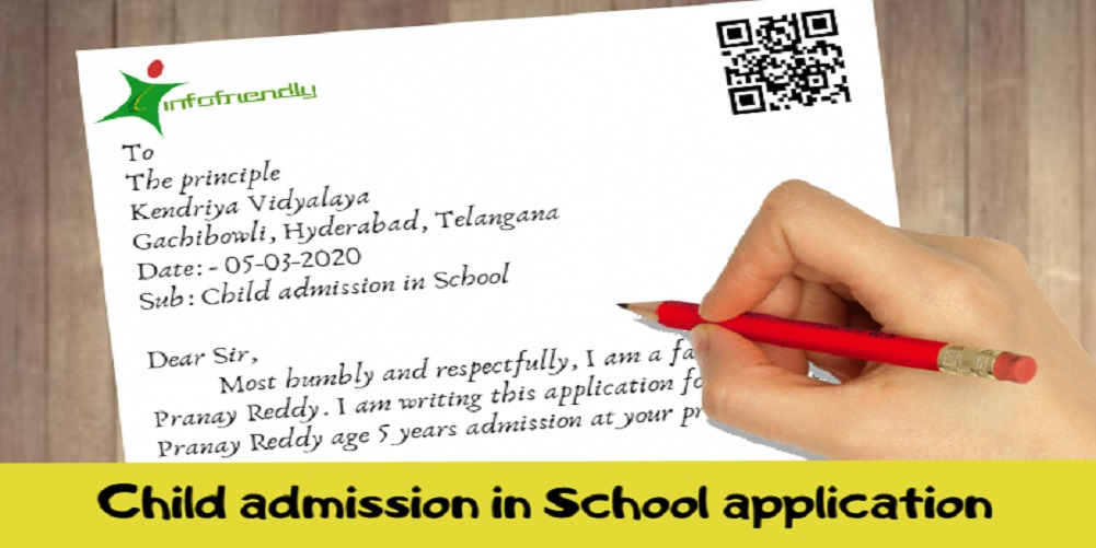 Child admission in School application