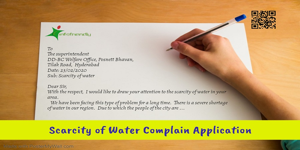 Scarcity of Water Application poster