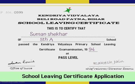 School Leaving Certificate application