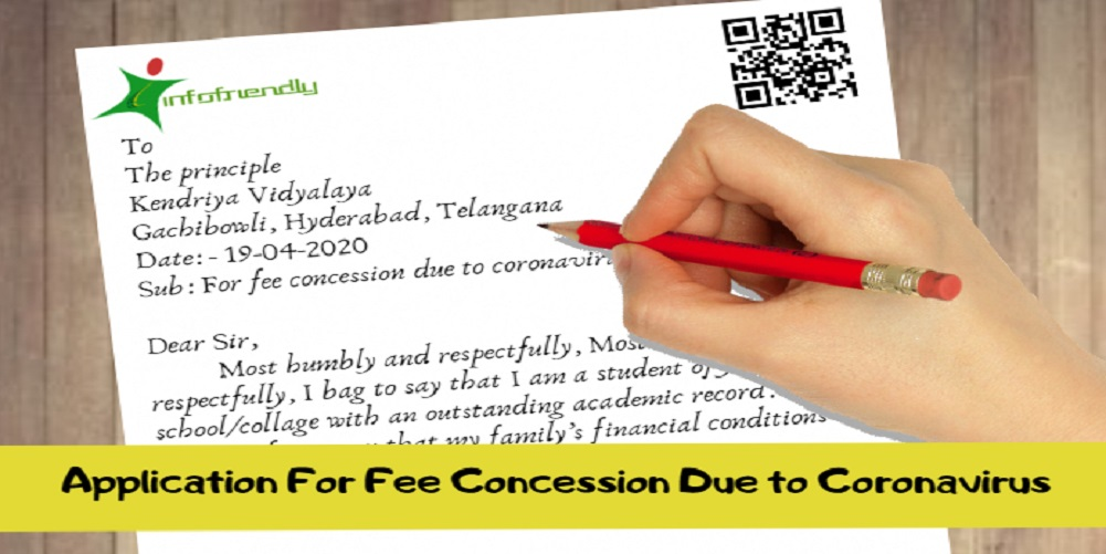 Application For Fee Concession Due to Coronavirus