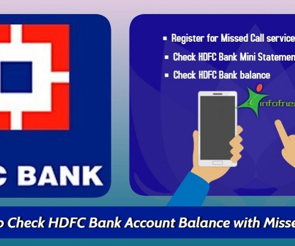 How to Check HDFC Bank Account Balance with Missed Call