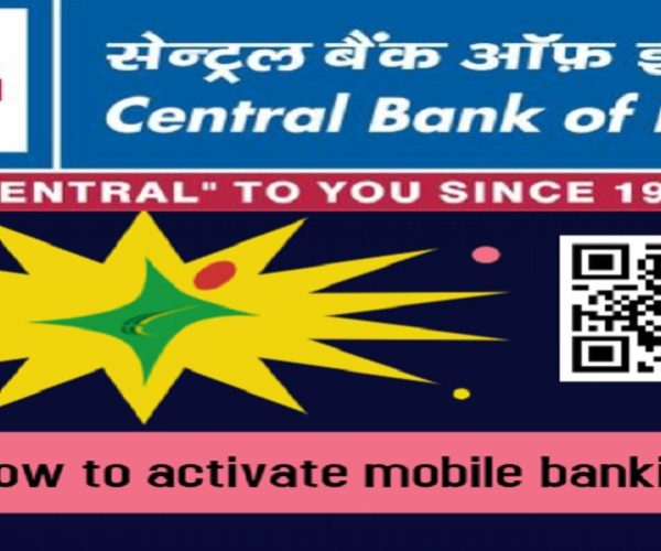 How to activate mobile banking in Central Bank of India?