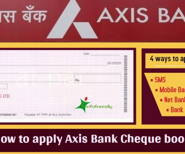 How to apply Axis Bank Cheque book