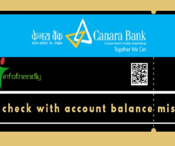 How to check with account balance missed call for Canara bank?