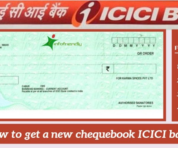 How to get a new chequebook ICICI bank
