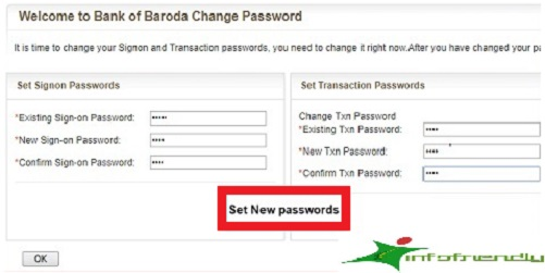 How to login for the first time Net Banking in Bank of Baroda?