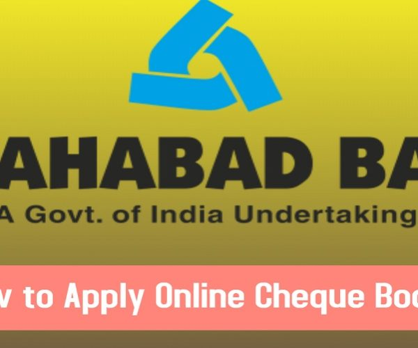 How to apply online check book in Allahabad bank