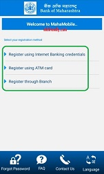 How to activate mobile banking in Bank of Maharashtra?