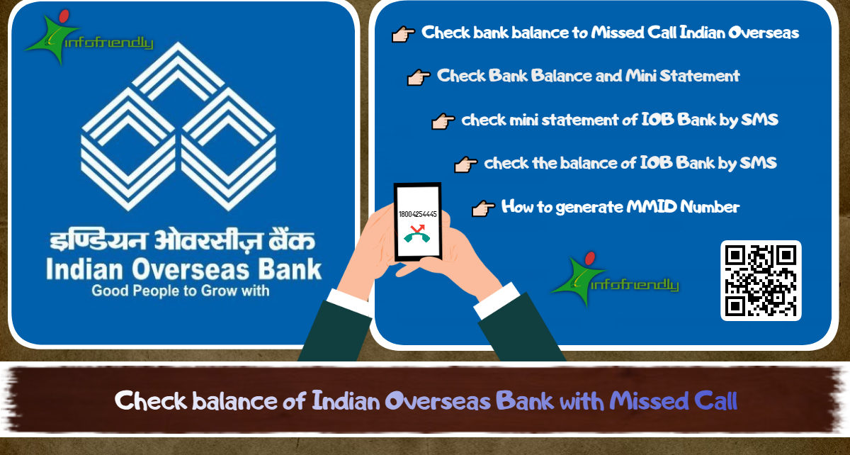 How to check balance of Indian Overseas Bank with Missed Call