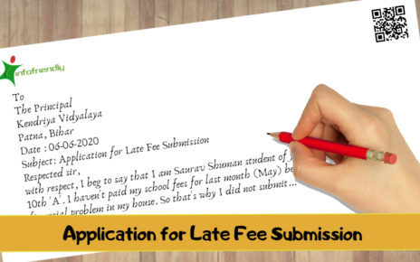 Application for Late Fee Submission