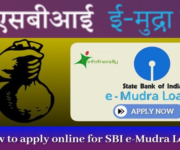 SBI e-Mudra Loan online