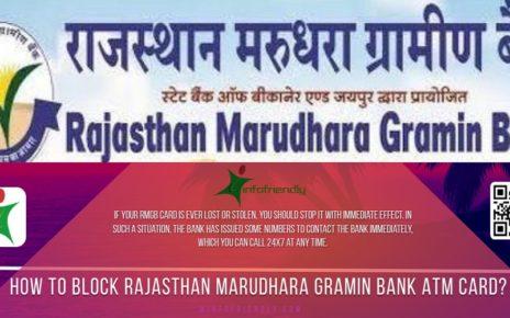 Block Rajasthan Marudhara Gramin Bank ATM Card