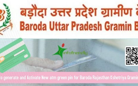 How to generate and Activate New atm green pin for Baroda Rajasthan Kshetriya Gramin Bank