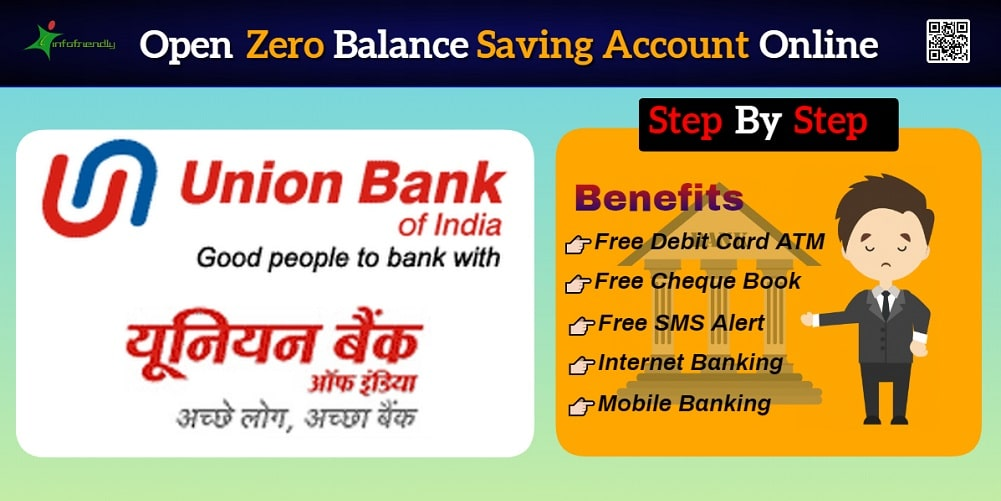 open union bank of India Zero Balance Saving account online