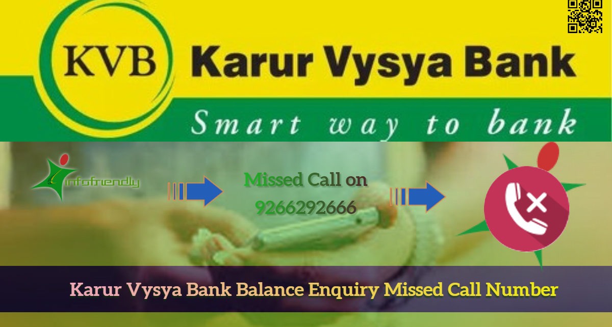 How to check with bank balance by missed call for Karur Vysya Bank?