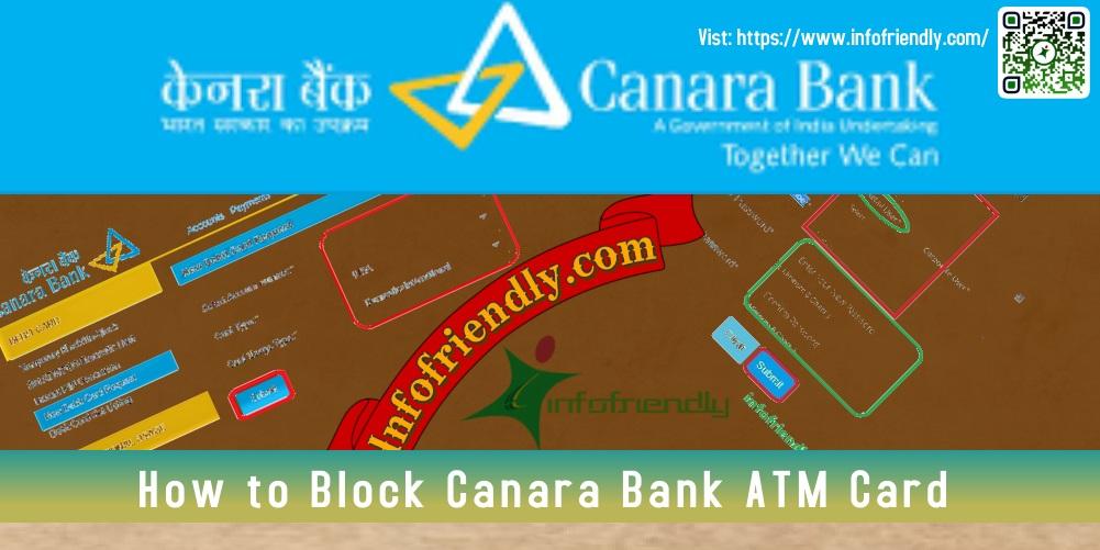 How to Block Canara Bank ATM Debit Card?
