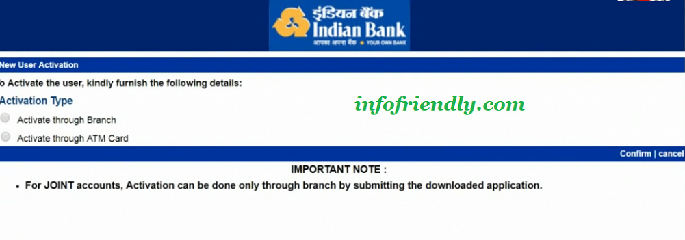 How to register online for Indian Bank Net Banking?