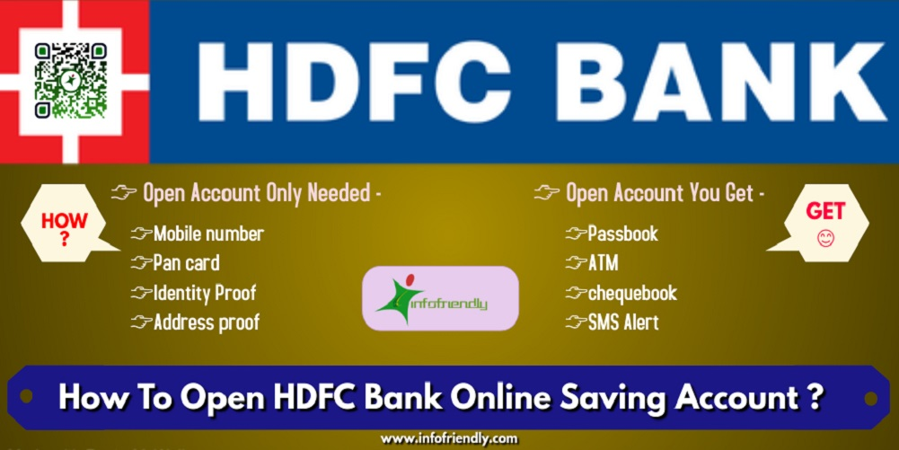 How to open Online Saving Account in HDFC Bank