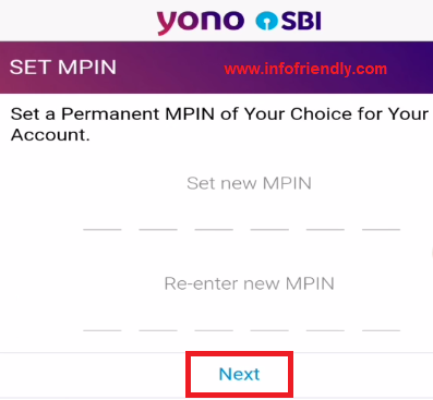 To set it, login after registration, then you will get the option to set MPIN.