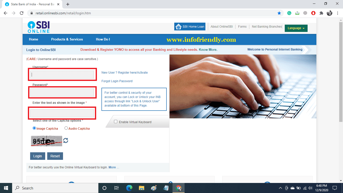 First of all login to SBI Net Banking