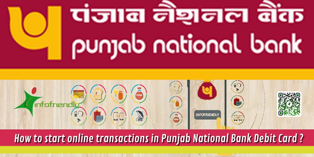 how to enable online transactions for a debit card of PNB?