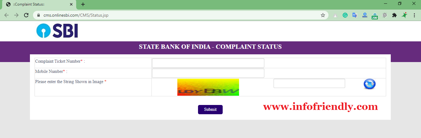 State Bank of India (SBI) Check Complaint Status