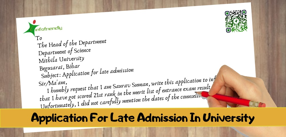 How to write an application for late admission to the university?