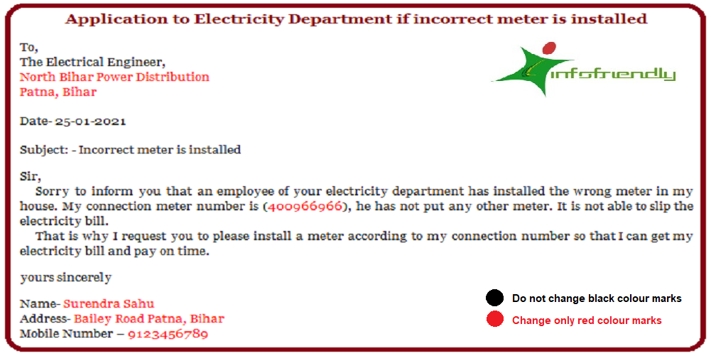 Incorrect meter is installed