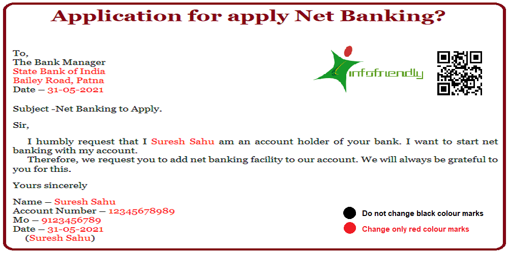 Application for apply Net Banking?