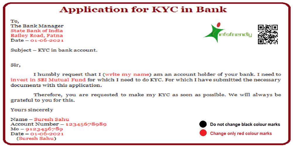 Application for KYC in Bank