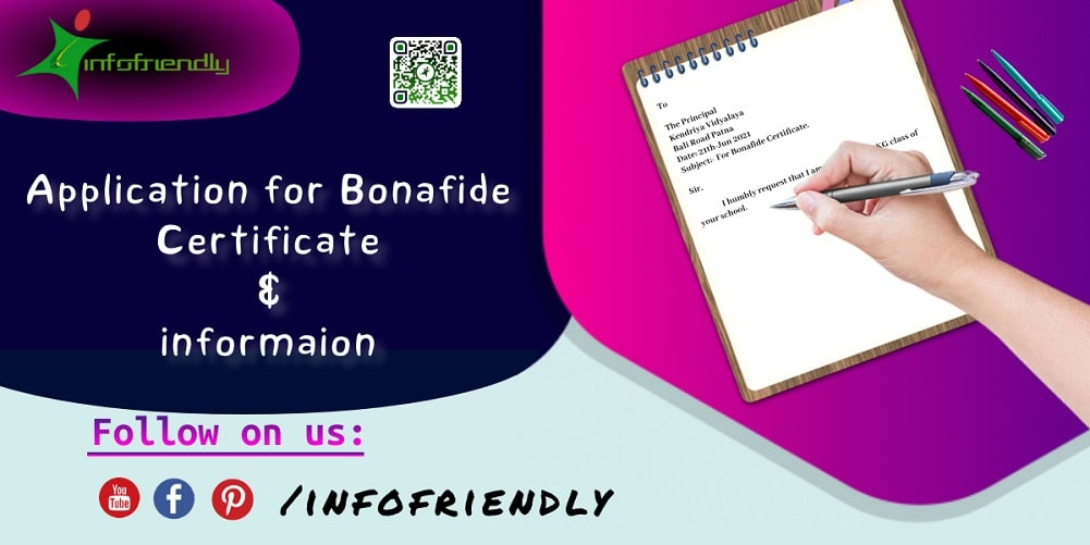 Application for Bonafide Certificate and information