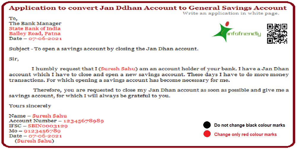 Application for convert Jan Dhan Account to General Savings.docx