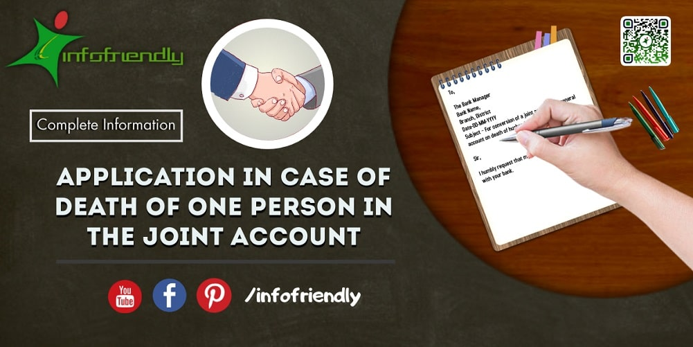 Application in case of death of one person in the joint account