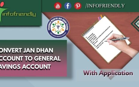 Application to convert Jan Dhan Account to General Savings Account