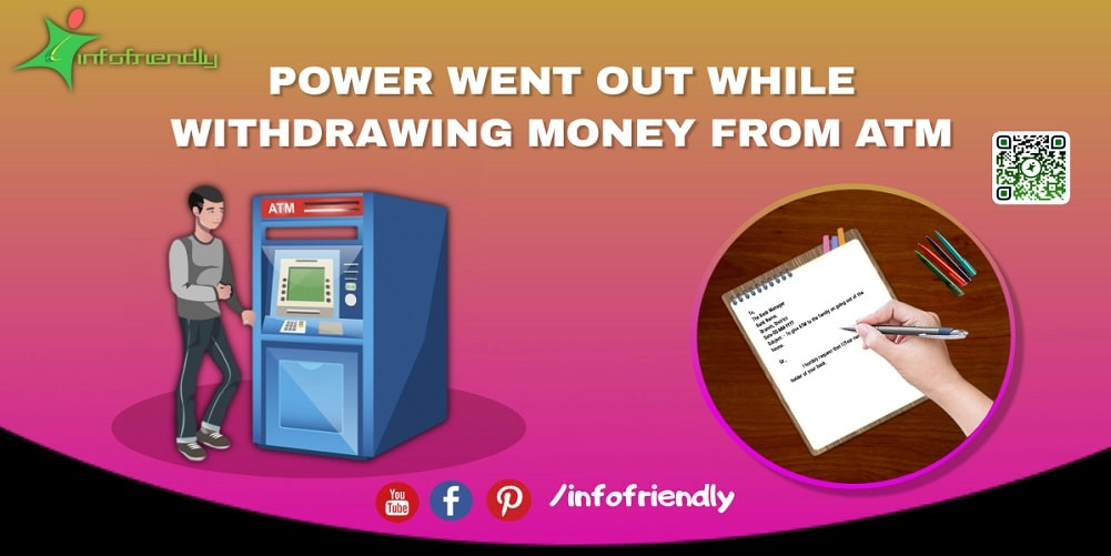 Power went out while withdrawing money from ATM