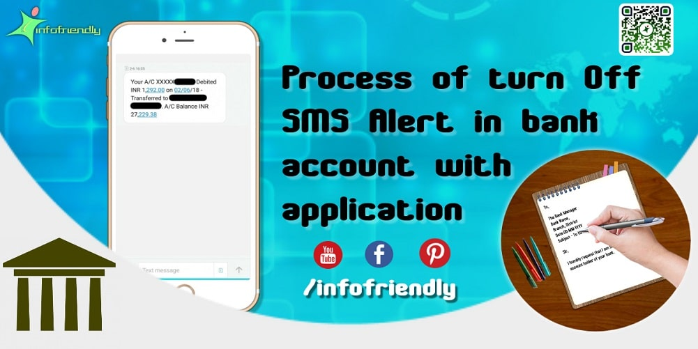 Process of turn Off SMS Alert in bank account with application