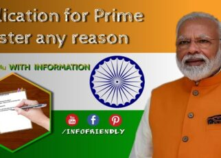 Application for Prime Minister any reason and details information